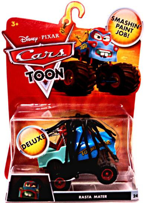 Disney Cars Cars Toon Deluxe Oversized Rasta Mater Diecast Car