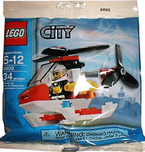 LEGO City Fire Helicopter Mini Set #4900 [Bagged]