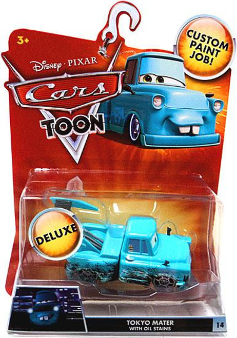 Disney Cars Cars Toon Deluxe Oversized Tokyo Mater with Oil Stains Diecast Car