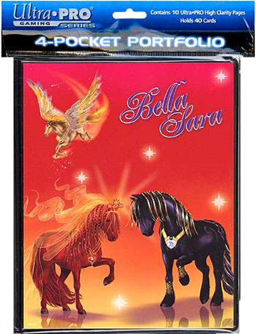 Ultra Pro Card Supplies Bella Sara 4-Pocket Binder [Black Horse and Red Horse]