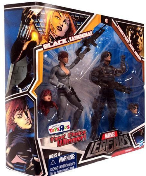 Marvel Legends Fan's Choice Black Widow [Gray Costume] & Winter Soldier Exclusive Action Figure 2-Pack [Gray Costume]