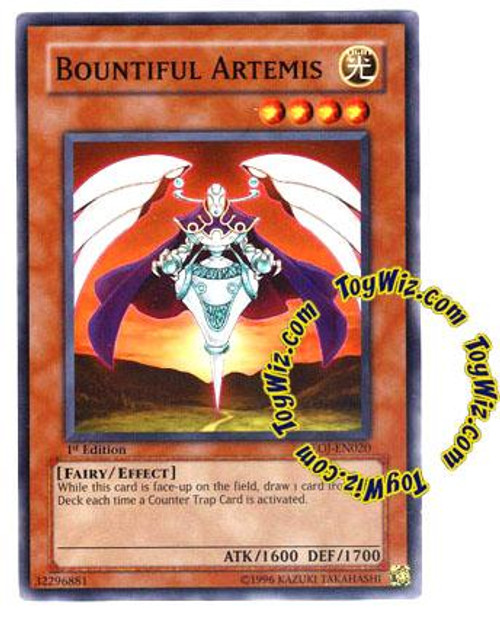 YuGiOh GX Enemy of Justice Common Bountiful Artemis EOJ-EN020