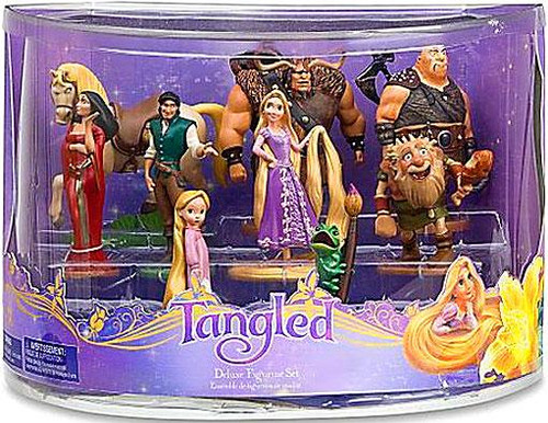 Disney Tangled Deluxe Figurine Set Exclusive 3-Inch
