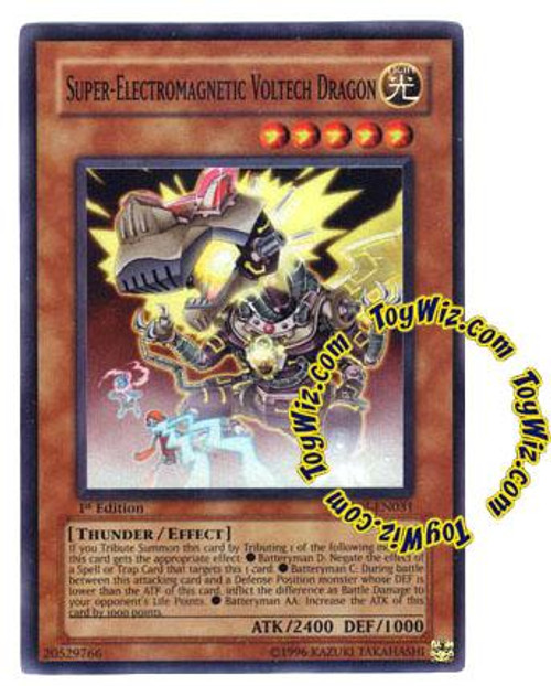 YuGiOh GX Enemy of Justice Super Rare Super-Electromagnetic Voltech Dragon EOJ-EN031
