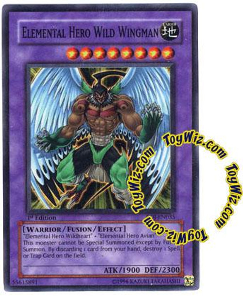 YuGiOh GX Enemy of Justice Super Rare Elemental Hero Wild Wingman EOJ-EN035