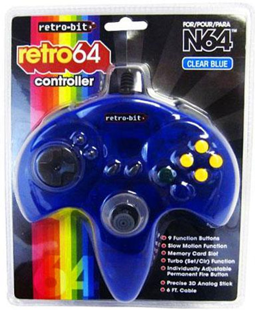 Nintendo Retro N64 Video Game Controller [Clear Blue]