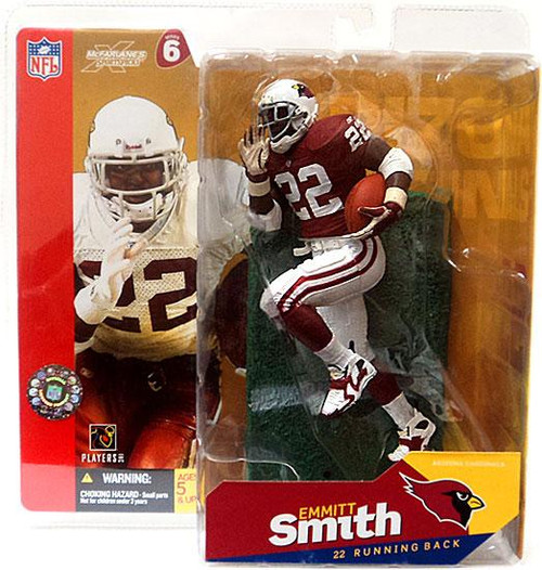 McFarlane Toys NFL Arizona Cardinals Sports Picks Series 6 Emmitt Smith Action Figure [Red/White Gloves Variant]