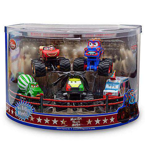 disney cars cars toon monster truck mater random color tormentor exclusive pvc figurine set - Monster Truck Mater Coloring Page