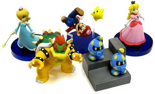 Super Mario Galaxy Set of 5 2-Inch PVC Figures