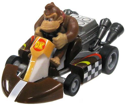 Super Mario Mario Kart Gacha Donkey Kong 1 1/2-Inch Pull Back Racer