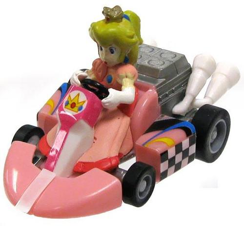Super Mario Mario Kart Gacha Princess Peach 1 1/2-Inch Pull Back Racer