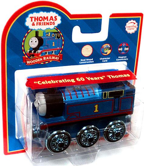 "Thomas & Friends Wooden Railway ""Celebrating 60 Years"" Thomas Train [Metallic Blue]"