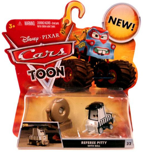 Disney Cars Cars Toon Main Series Referee Pitty with Bell Diecast Car #32