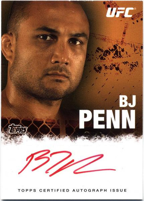 UFC 2010 Championship BJ Penn Autograph Fighters & Personalities Autograph Card FA-BP
