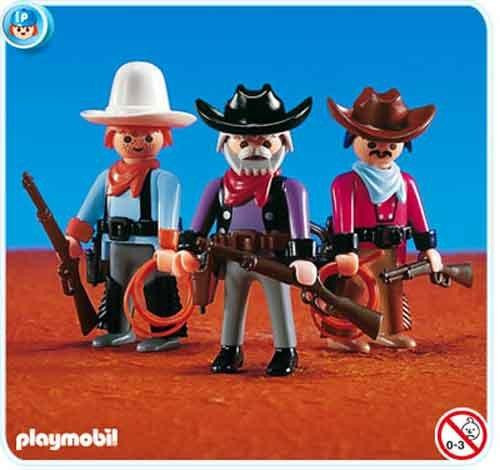 Playmobil Figures 3 Cowboys Set #7273
