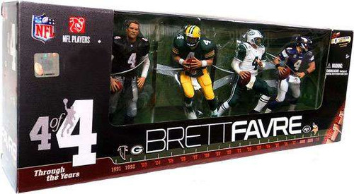 McFarlane Toys NFL Brett Favre Through the Years Exclusive Action Figure 4-Pack #4 of 4 [Black Falcons Jersey]