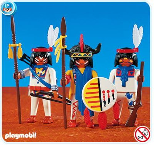 Playmobil Figures 3 Native Americans Set #7659