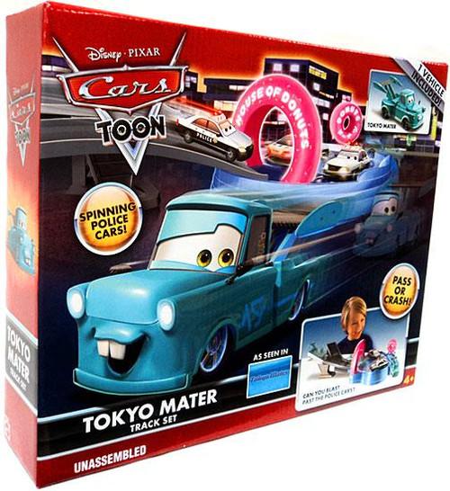 Disney Cars Cars Toon Playsets Tokyo Mater Diecast Car Track Set