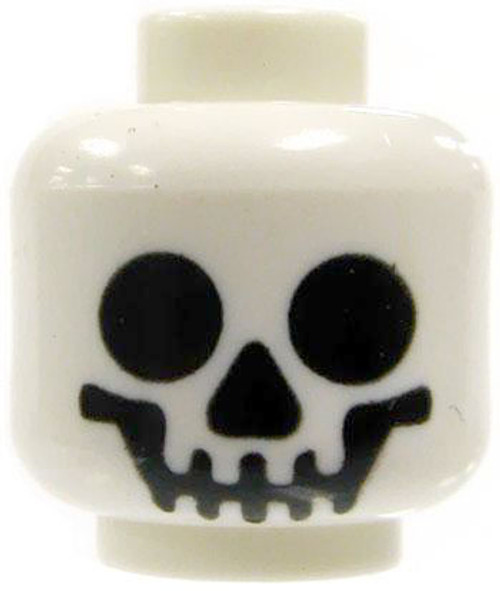 LEGO Minifigure Parts White Smiling Skull Minifigure Head [Loose]