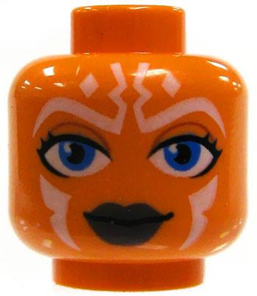 Star Wars LEGO Minifigure Parts Orange Female Togruta Whtie Markings & Blue Eyes Minifigure Head [Loose]
