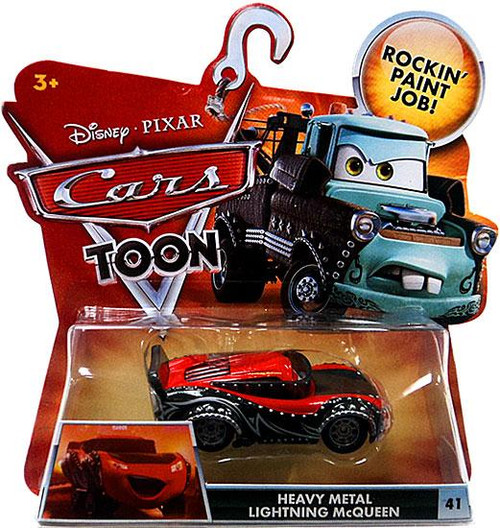 Disney Cars Cars Toon Main Series Heavy Metal Lightning McQueen Diecast Car #41