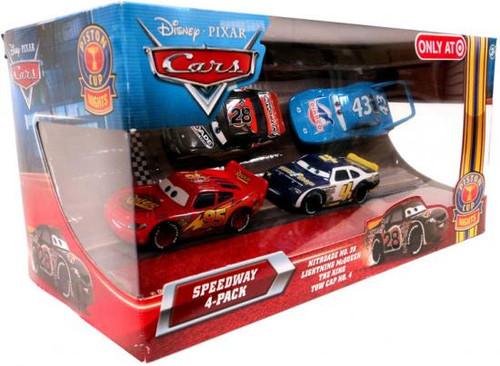 Disney Cars Multi-Packs Speedway 4-Pack Exclusive Diecast Car Set [Nitroade]