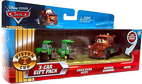 Disney Cars Multi-Packs Piston Cup 3-Car Gift Pack Diecast Car Set [Mater & Pit Crew]