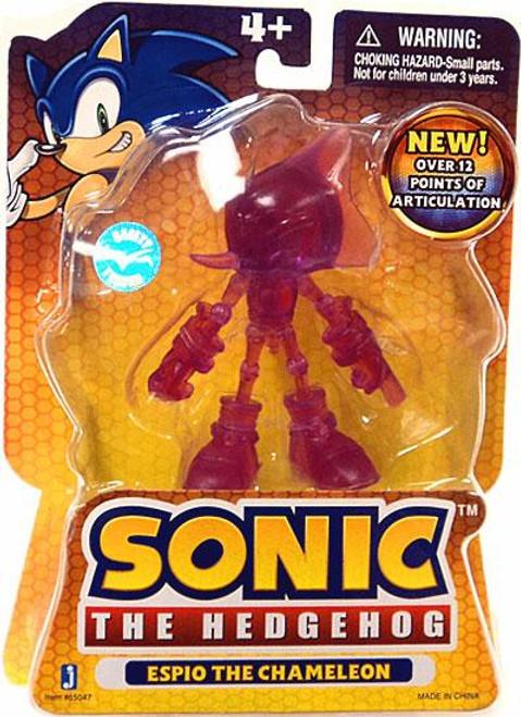 Sonic The Hedgehog Espio The Chameleon Action Figure [Translucent]