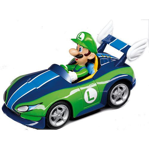 Super Mario Mario Kart Wii Pull & Speed Luigi 3.5-Inch Vehicle #19305 [Wild Wing]