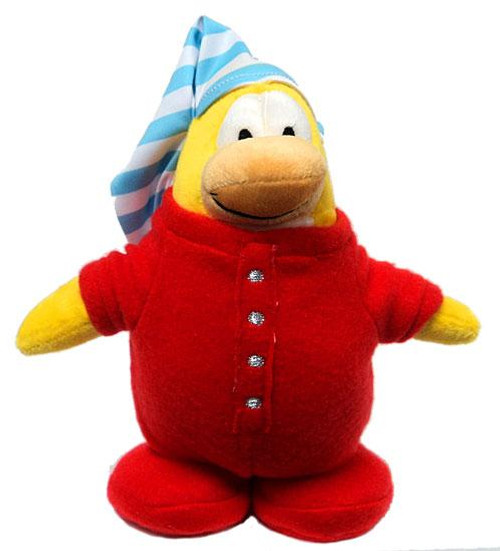 Club Penguin Exclusives Red Pajama Exclusive 9-Inch Plush Figure
