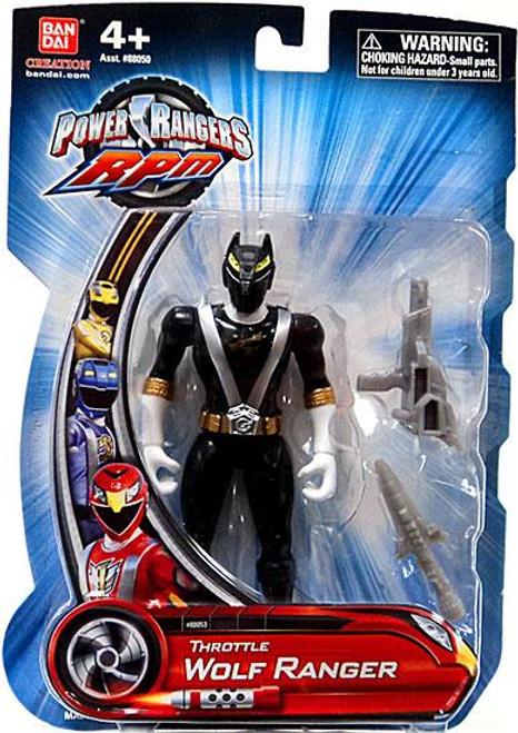 Power Rangers RPM Throttle Wolf Ranger Action Figure