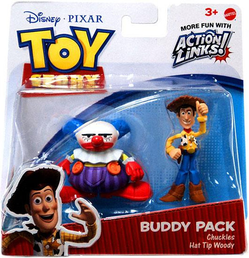 Toy Story Action Links Buddy Pack Chuckles & Hat Tip Woody Exclusive Mini Figure 2-Pack