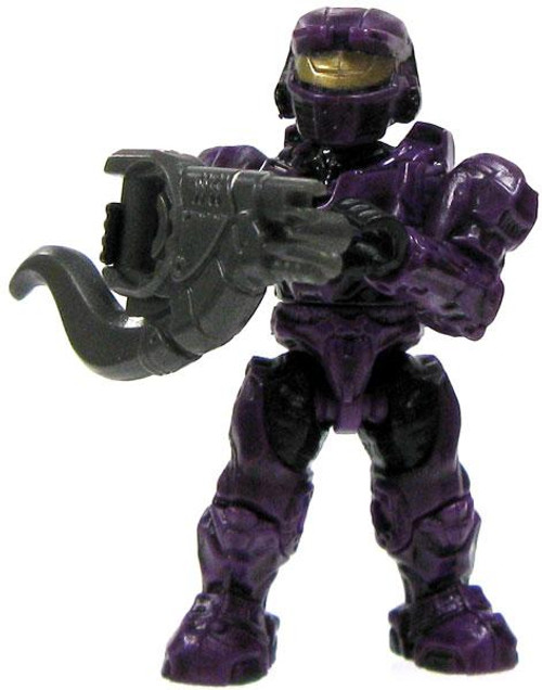 Mega Bloks Halo Loose Mark VI Spartan 2-Inch Minifigure [Purple Loose]