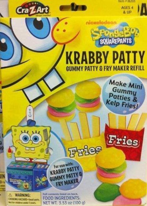 Spongebob Squarepants Krabby Patty Gummy Patty & Fry Maker Refill Pack