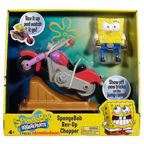 Spongebob Squarepants Rev-Up Chopper Playset