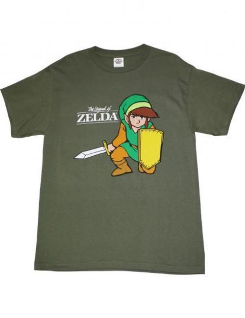 The Legend of Zelda Link T-Shirt [Youth, Dark Olive Green]