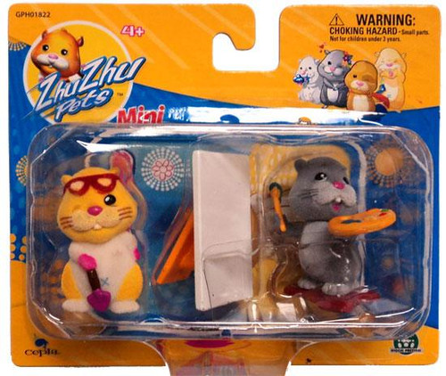 Zhu Zhu Pets Patches & Num Nums Mini Figure 2-Pack