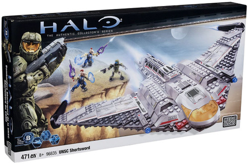 Mega Bloks Halo The Authentic Collector's Series UNSC Shortsword Bomber Set #96835