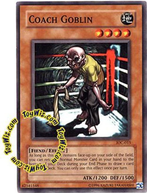 YuGiOh Invasion of Chaos Common Coach Goblin IOC-015