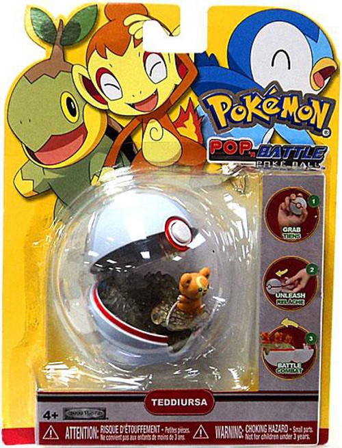 Pokemon Pop n Battle Teddiursa Pokeball