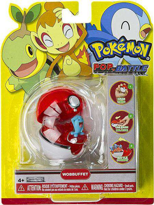Pokemon Pop n Battle Wobbuffet Pokeball