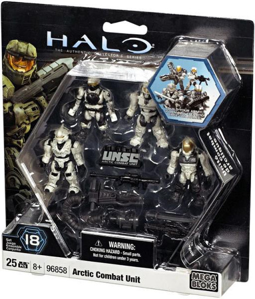 Mega Bloks Halo The Authentic Collector's Series Arctic Combat Unit Set #96858