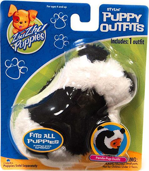 Zhu Zhu Pets Zhu Zhu Puppies Puppy Outfits Panda-Pup Outfit Accessory Set