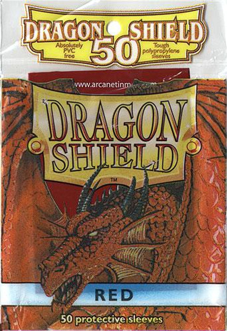 Card Supplies Dragon Shield Red Standard Card Sleeves [50 ct]
