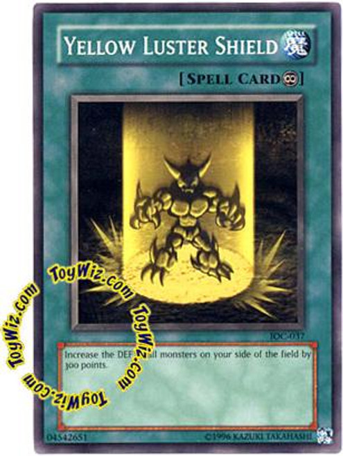 YuGiOh Invasion of Chaos Common Yellow Luster Shield IOC-037