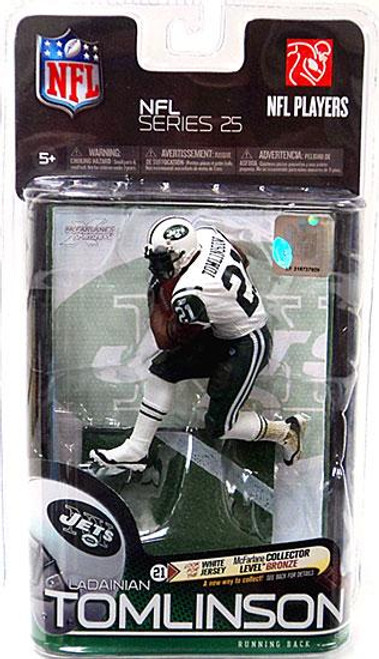 McFarlane Toys NFL New York Jets Sports Picks Series 25 LaDainian Tomlinson Action Figure [White Jersey]