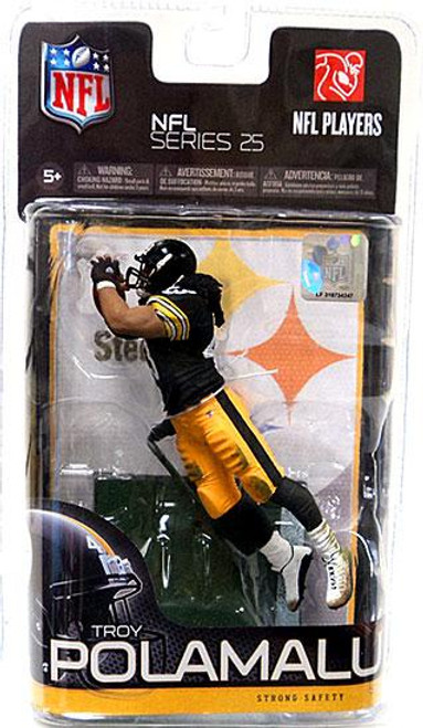 McFarlane Toys NFL Pittsburgh Steelers Sports Picks Series 25 Troy Polamalu Action Figure [Black Jersey Variant]