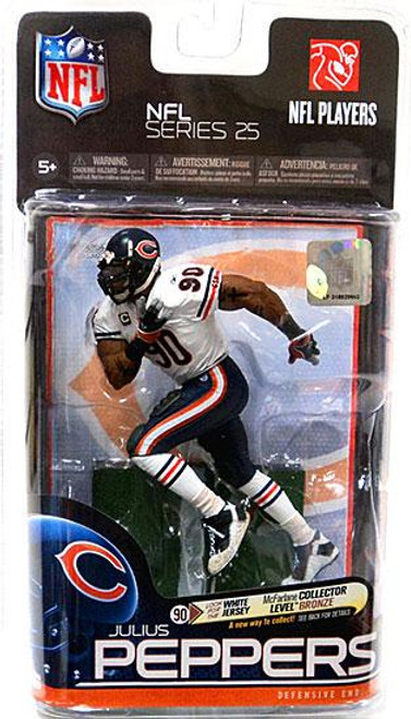 McFarlane Toys NFL Chicago Bears Sports Picks Series 25 Julius Peppers Action Figure [White Jersey]