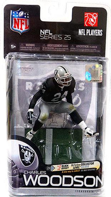 McFarlane Toys NFL Oakland Raiders Sports Picks Series 25 Charles Woodson Action Figure [Black Jersey]