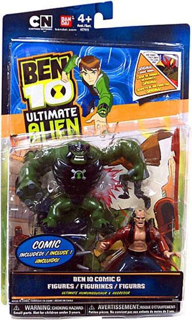 Ben 10 Ultimate Alien Comic Book Series Ultimate Humungousaur & Aggregor Exclusive Action Figure 2-Pack